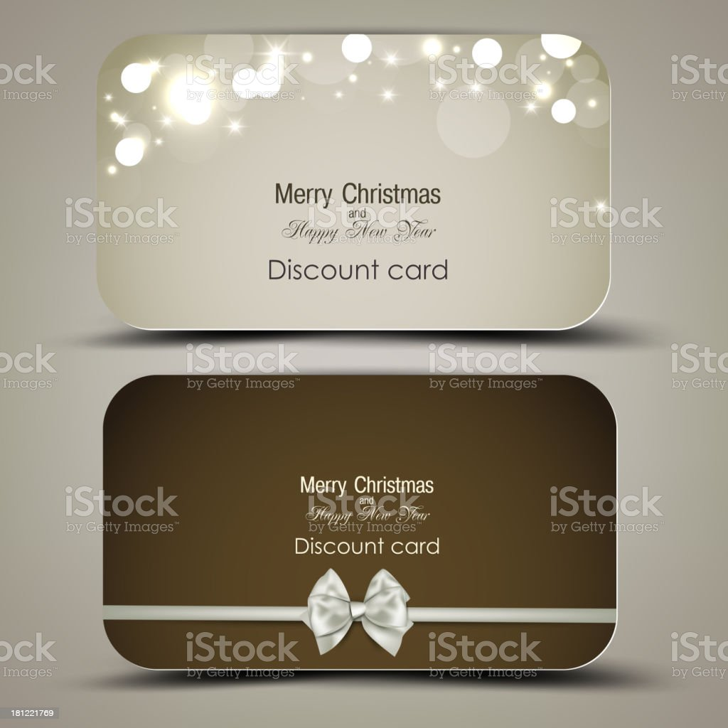Collection of gift cards with ribbons. Vector background royalty-free collection of gift cards with ribbons vector background stock vector art & more images of abstract