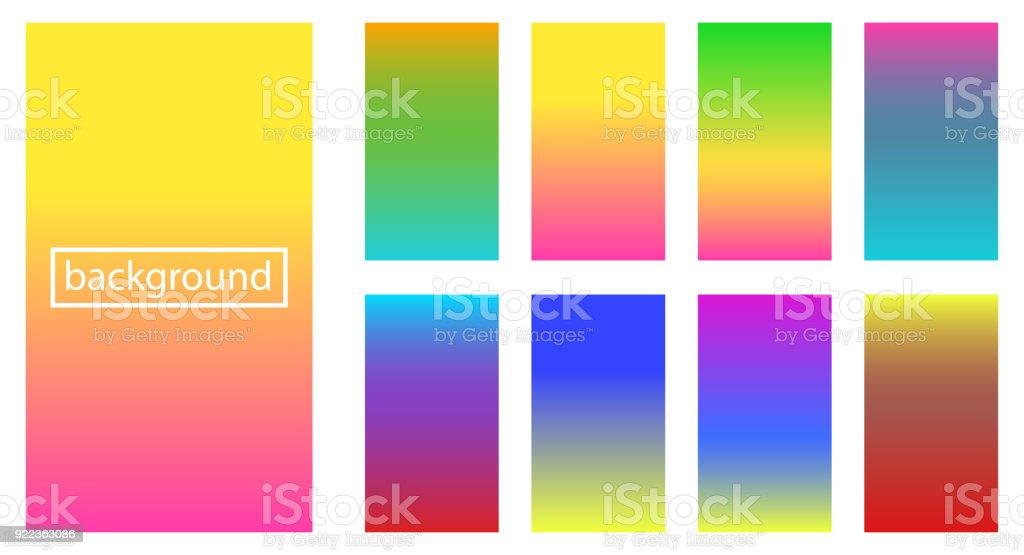 Collection de gradient et arrière-plans pour le concept de design vector illustration collection de gradient et arrièreplans pour le concept de design vector illustration vecteurs libres de droits et plus d'images vectorielles de abstrait libre de droits