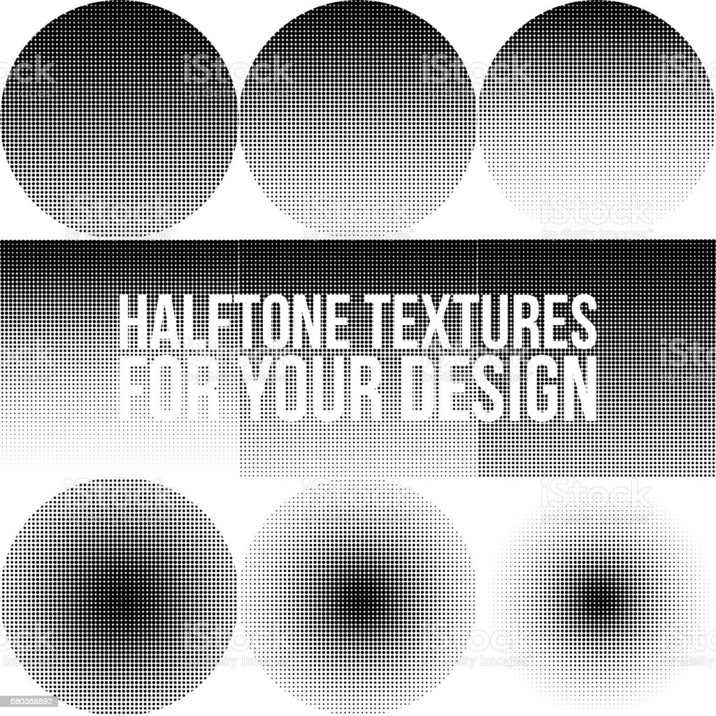 Collection of Gradient dotted Halftone Textures royalty-free collection of gradient dotted halftone textures stock vector art & more images of abstract