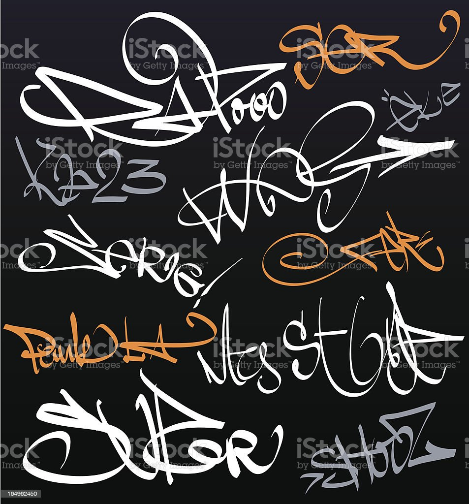 Collection of graffiti signatures royalty-free collection of graffiti signatures stock vector art & more images of city life