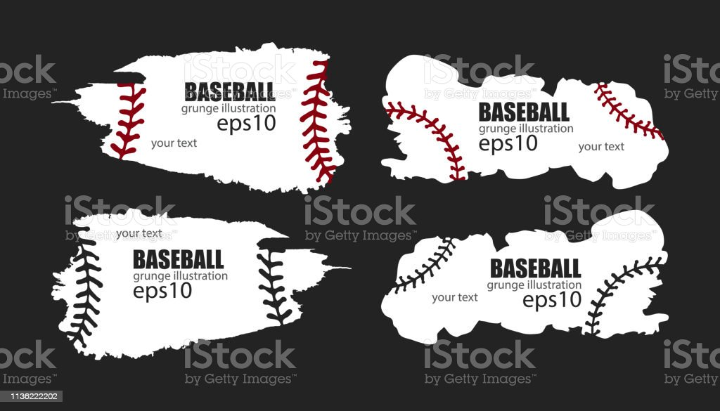 Grunge abstract designs for baseball.