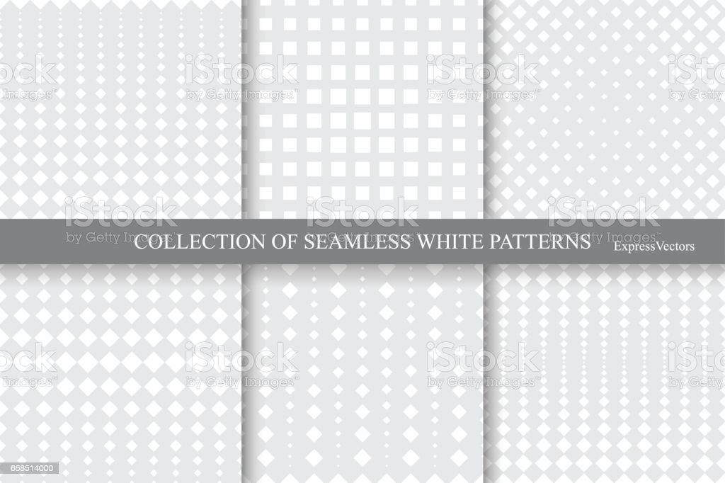 Colección de patrones geométricos transparente de tono medio. - ilustración de arte vectorial