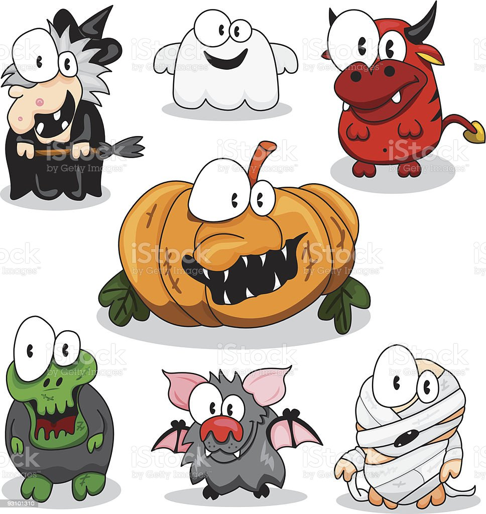 Collection of halloween creatures royalty-free collection of halloween creatures stock vector art & more images of animal