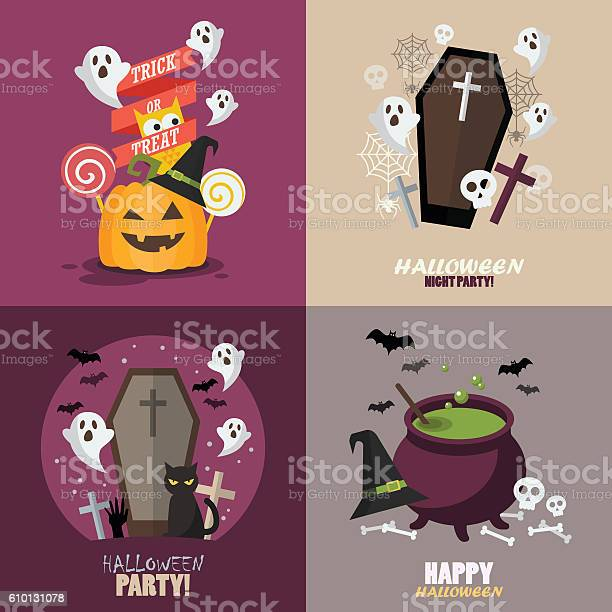 Collection of halloween party greeting card vector id610131078?b=1&k=6&m=610131078&s=612x612&h=glws73zwbonsbmh4abhna6nvrwpdkbu8txdxwbkm t4=