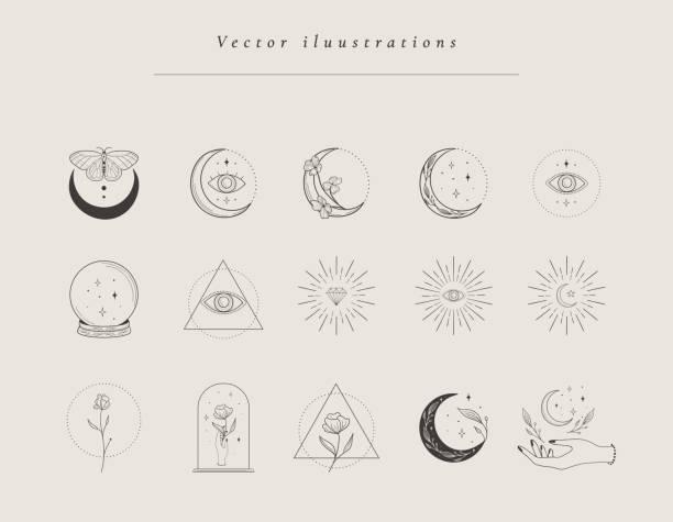 ilustrações de stock, clip art, desenhos animados e ícones de collection of hand drawn designs, templates - perto de deus