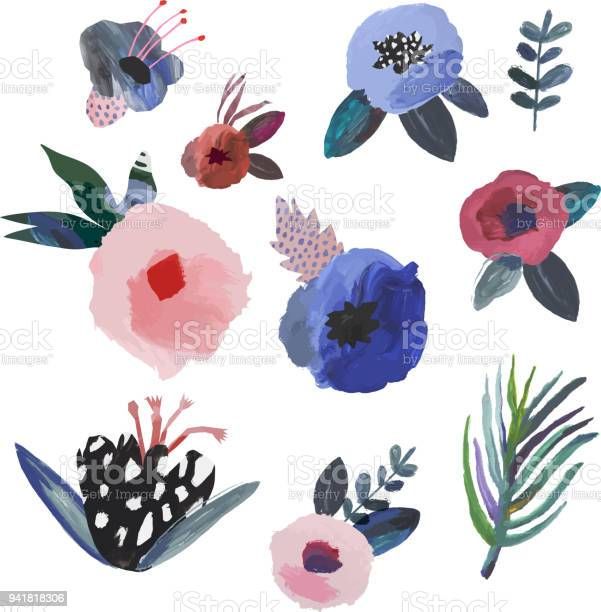 Collection of hand drawn flowers and leaves vector id941818306?b=1&k=6&m=941818306&s=612x612&h=g6qdz7usrrt0ijr6htayhsa 6ke48igzqyreurbrqlk=