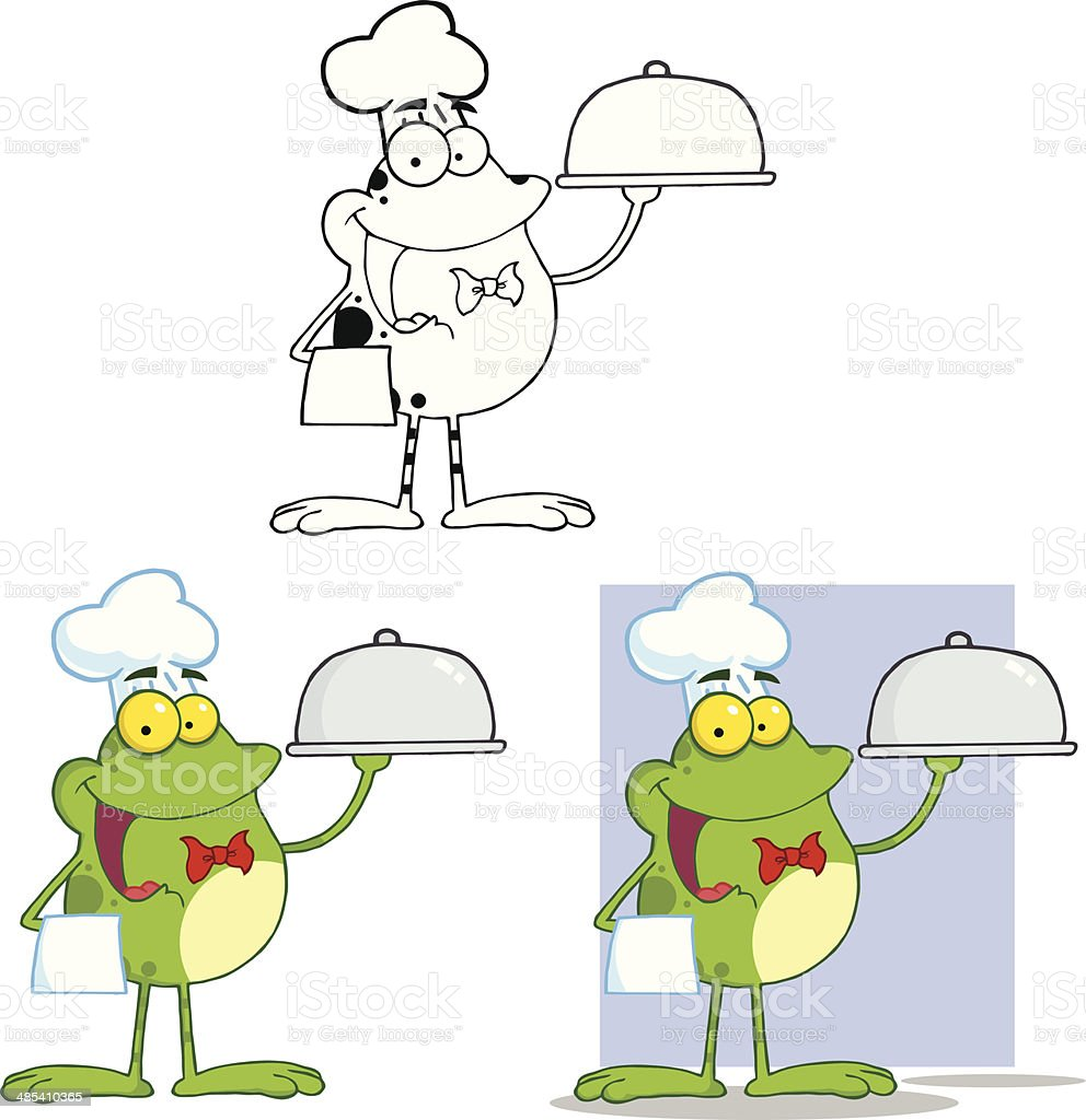 collection of happy chef frog stock vector art 485410365 istock rh istockphoto com Cute Frog Silhouette Leaping Frog Clip Art