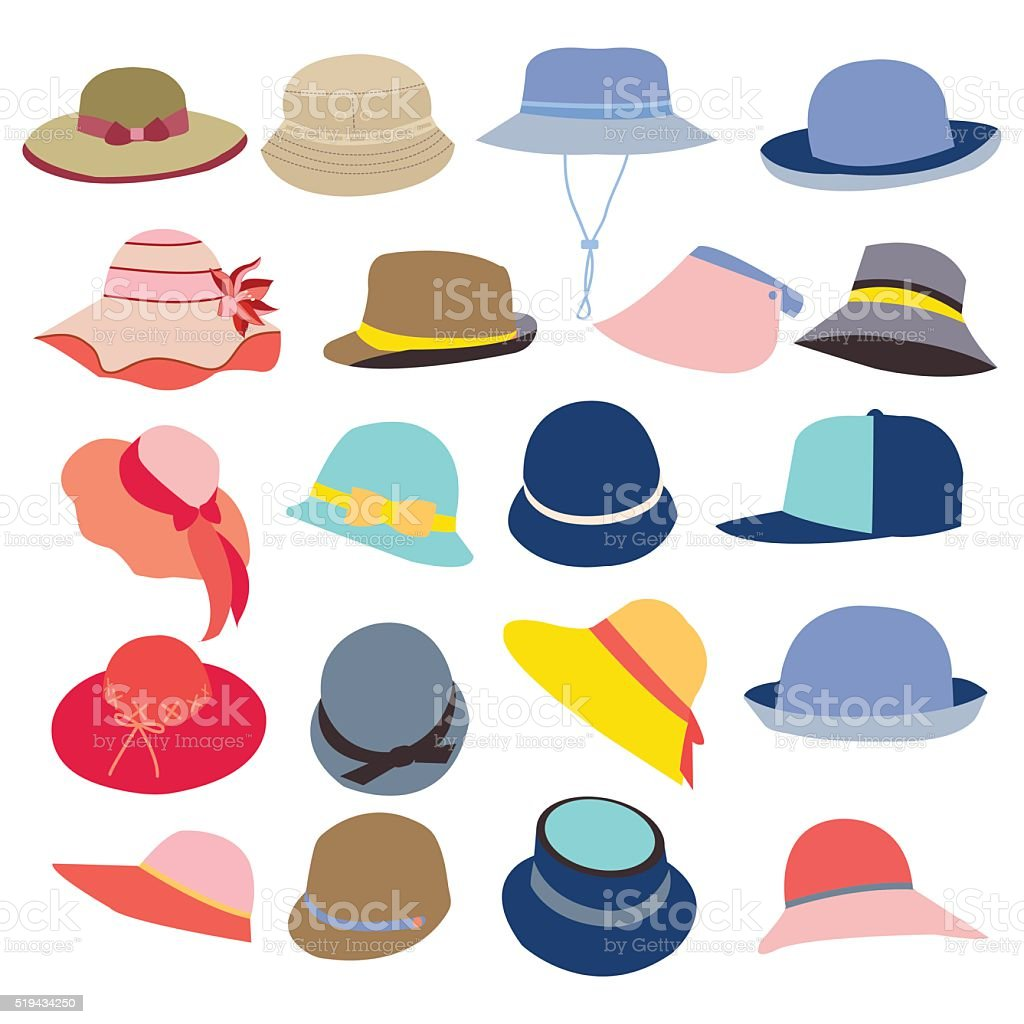royalty free sun hat clip art vector images illustrations istock rh istockphoto com hat clip art free hats clip art pictures