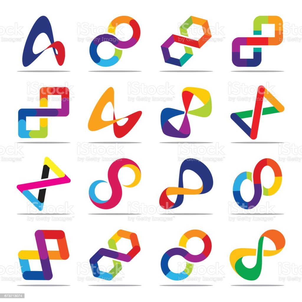 Collection Of Icons For Infinity Symbols Stock Vector Art More