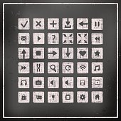 Collection of icons, web design elements