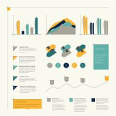 Collection of infographics elements. Vector.