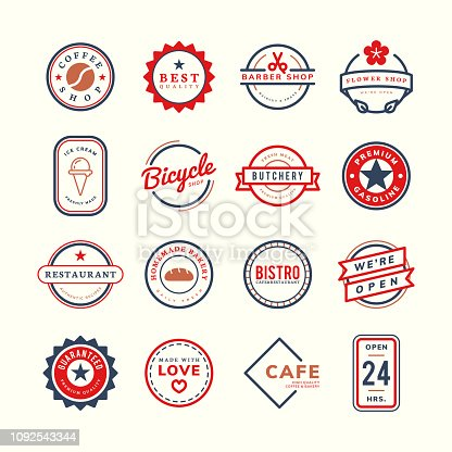 Collection of logo and badge vectors