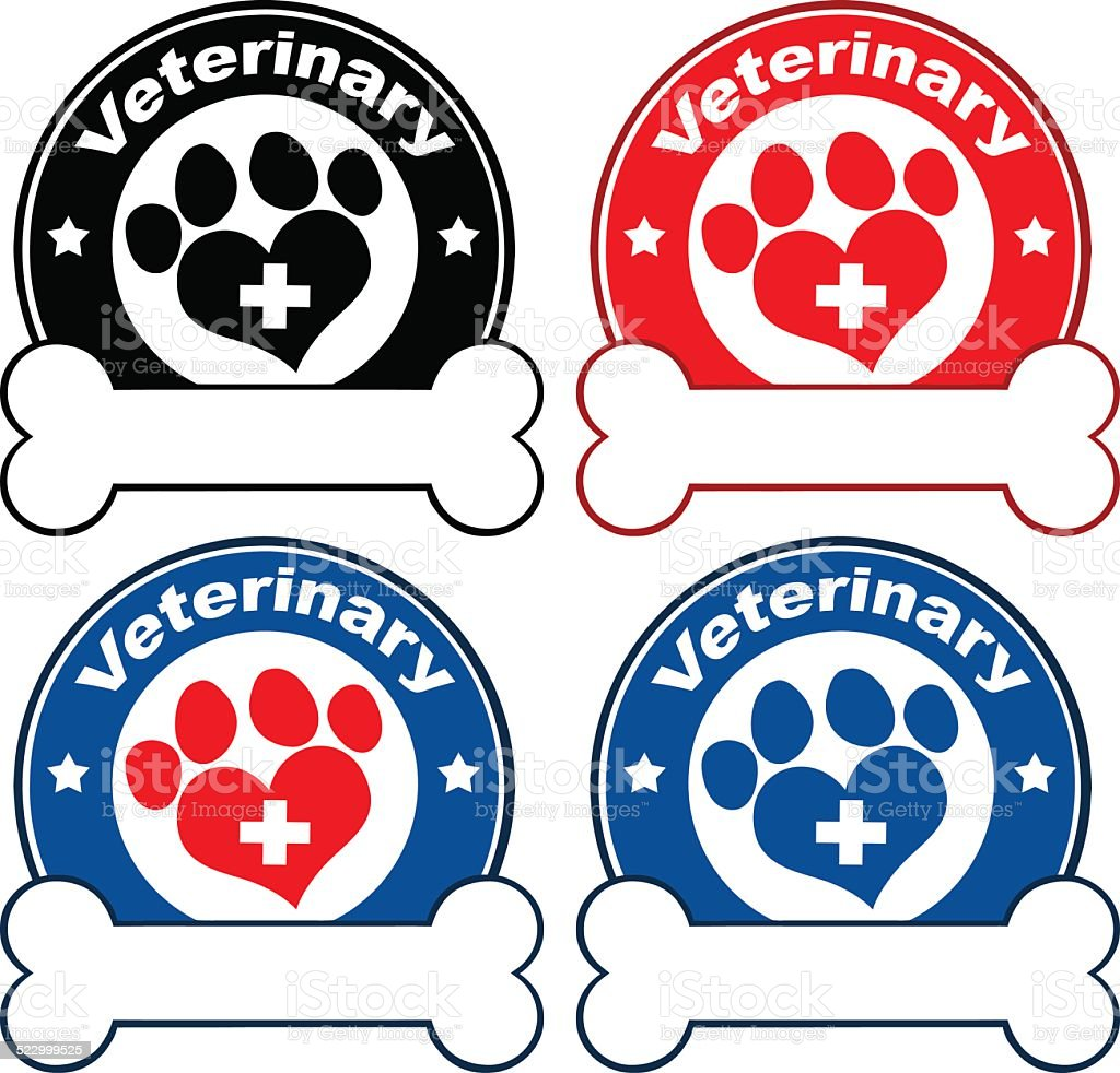 Collection of Logo With Dog Paw and Bone - 1