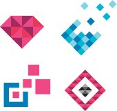 Collection of Pixels is beautiful logo template, symbol of modern graphic design harmony and computer science evolution as well as human identity. It is great for decorations / ornament( book, page, invitations, paper, wall, business card..) as well as small and big company brands symbolizing its strength, unity and willingness to support and help.