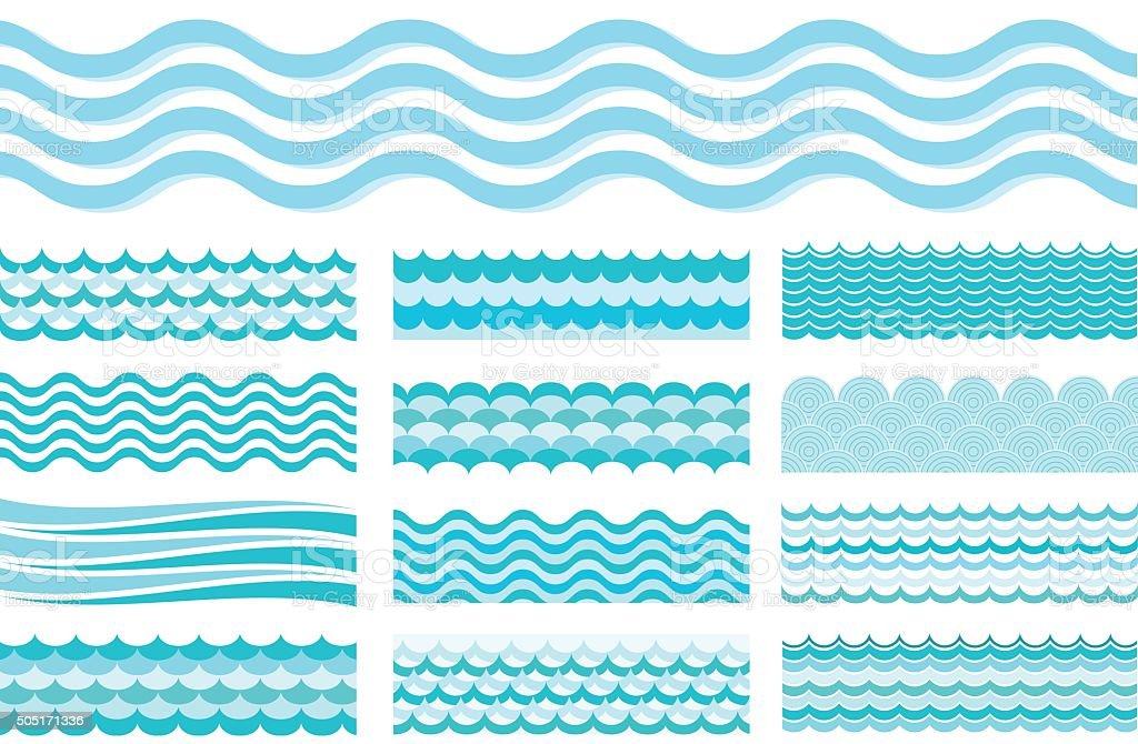 royalty free wave pattern clip art vector images illustrations rh istockphoto com Tidal Wave Clip Art Beach Waves Clip Art