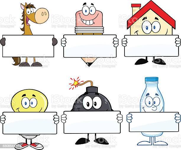 Collection of mascots holding blank sign 3 vector id530854417?b=1&k=6&m=530854417&s=612x612&h=ll iqosmybf5syb 7lygujzgti1lxl minleghluaeu=