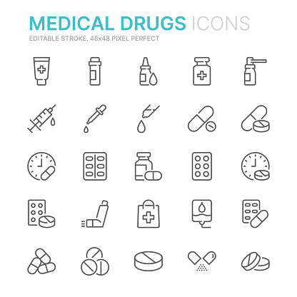 medication stock illustrations
