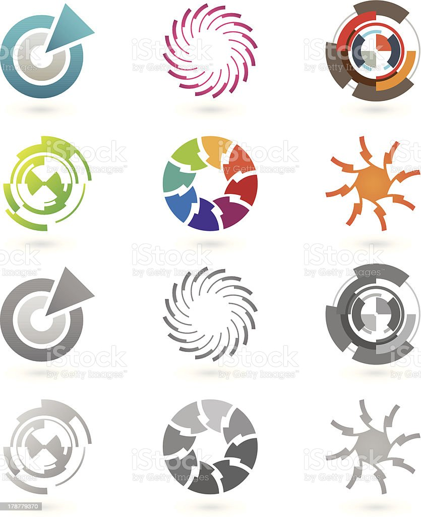 Collection of modern icons royalty-free stock vector art