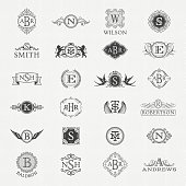 Collection of monograms,logos and badges.More works like this linked below.