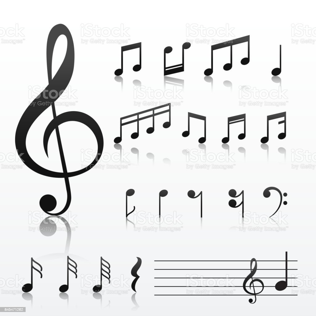 Collection of music note symbols stock vector art 845471262 istock collection of music note symbols royalty free stock vector art buycottarizona Image collections