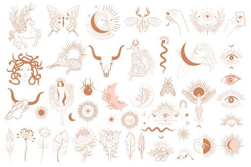 Collection of Mythology objects
