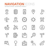 istock Collection of navigation related line icons. 48x48 Pixel Perfect. Editable stroke 1167425486