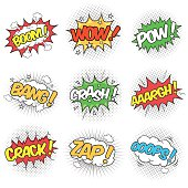 Collection of Nine Wording Sound Effects
