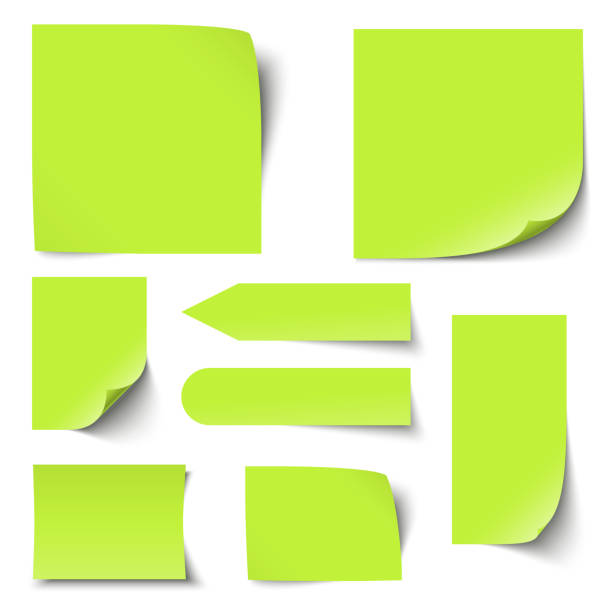 illustrazioni stock, clip art, cartoni animati e icone di tendenza di collection of notes / memos blank - post it