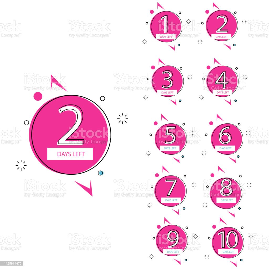 collection of number days left countdown template for promotion,...