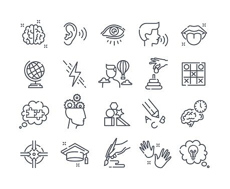 Collection of outline icons