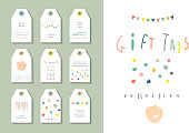 Collection of party hand tags. Cute set for any occasion.