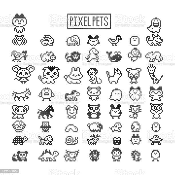 Collection of pixel animals like vintage personal game vector id922991650?b=1&k=6&m=922991650&s=612x612&h=hq8ze8ayikprbeixcfealm ednbk8als7bdvrhrh7b4=