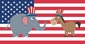 Collection of Political Elephant and Donkey - 3