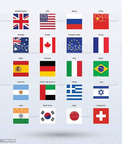 Popularne Flags Pobrania - Stockowe grafiki wektorowe i więcej obrazów Argentyna