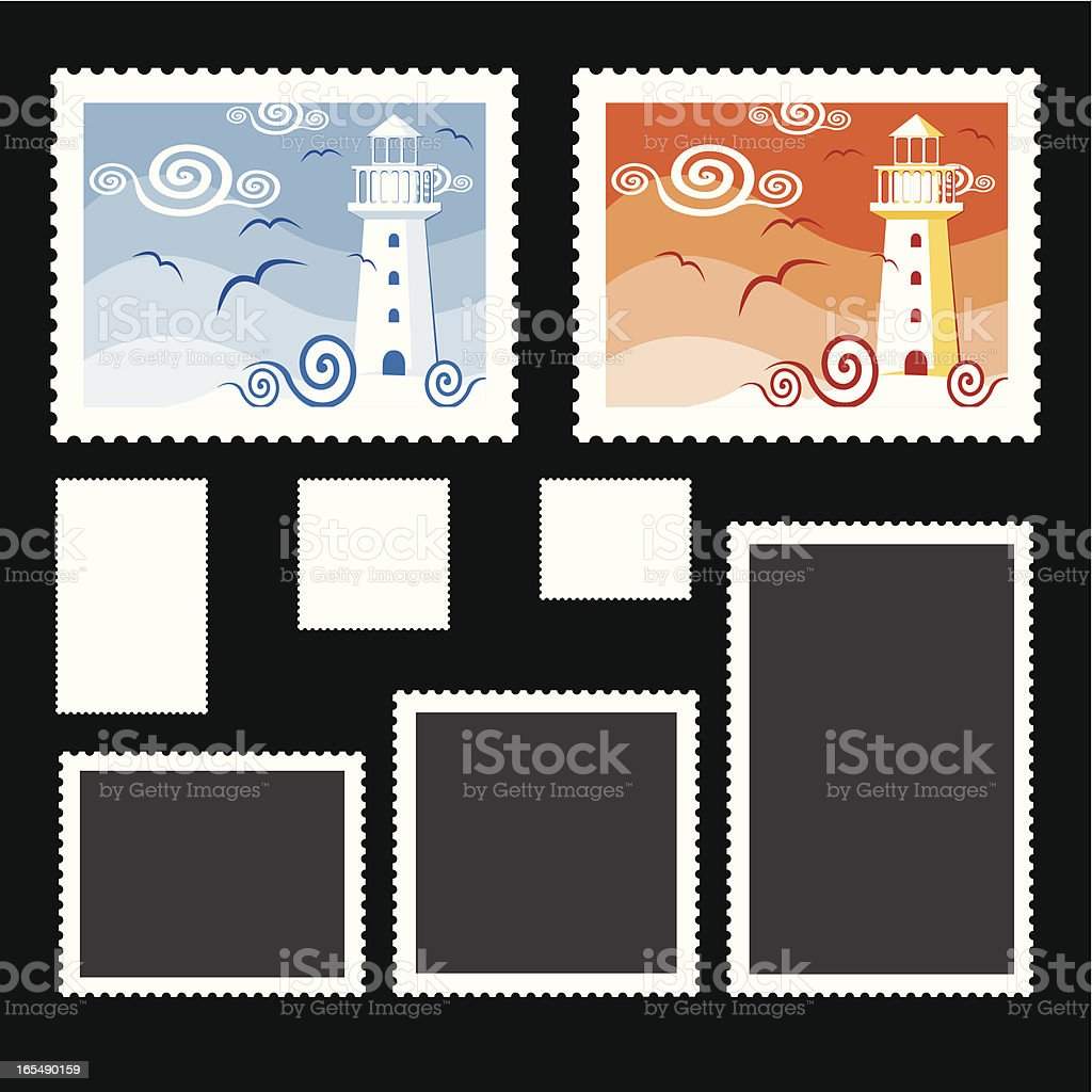 A collection of postage stamps with some of them blank royalty-free a collection of postage stamps with some of them blank stock vector art & more images of arts culture and entertainment