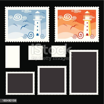 two stamp example with blank stamp frames.this editable vector file contains eps8,aics2,ai10,pdf and 300dpi jpeg formats.
