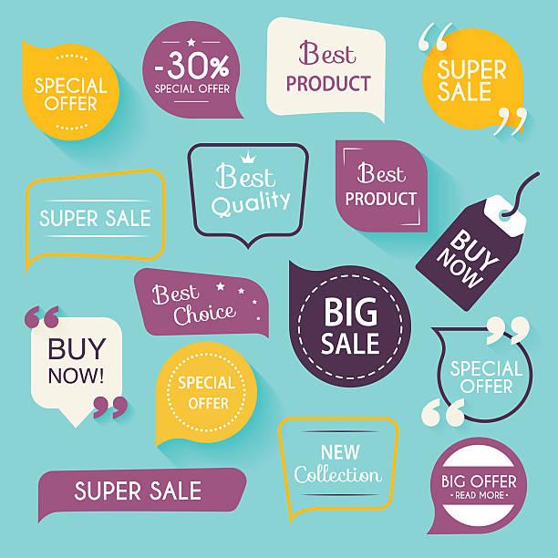 kolekcja premium uszczelnienia/naklejki promocji. pojedyncze wektor pokazanego - pieczęć znaczek stock illustrations