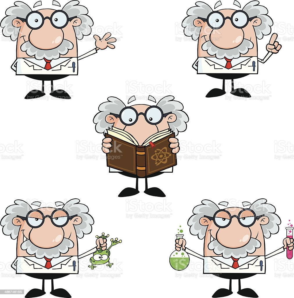 Collection of Professor - 5 vector art illustration