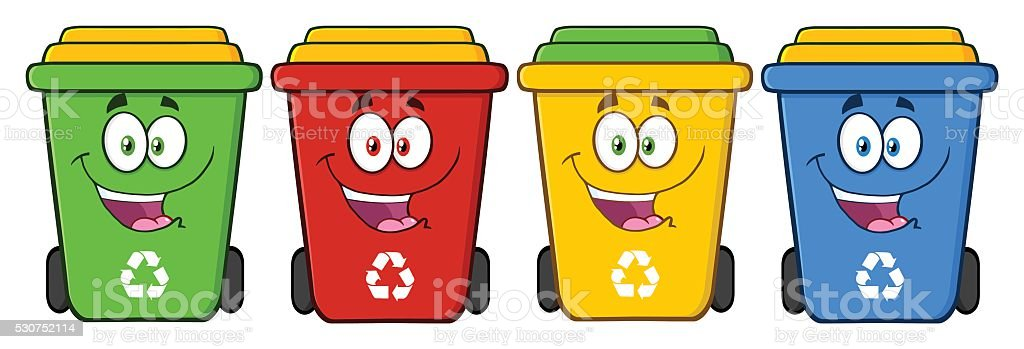 Collection of Recycle Bin - 1 vector art illustration