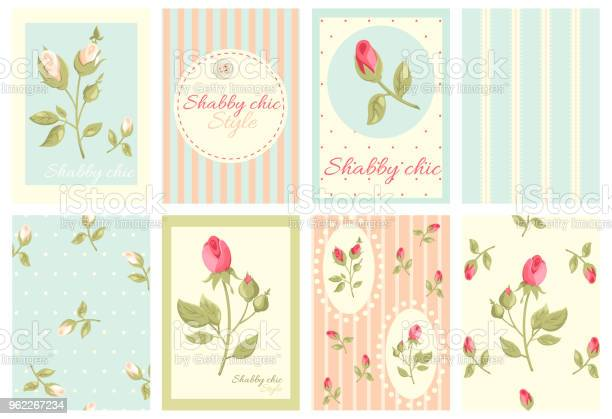 Collection of retro cards in shabby chic style vector id962267234?b=1&k=6&m=962267234&s=612x612&h=xjvclvt9ok t oawopuvghxcpnckobr2dnfve5didvs=