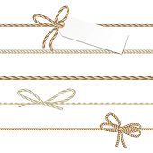 Collection of ribbons ahd bows in rope style