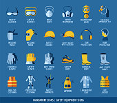 Collection of safety equipment.
