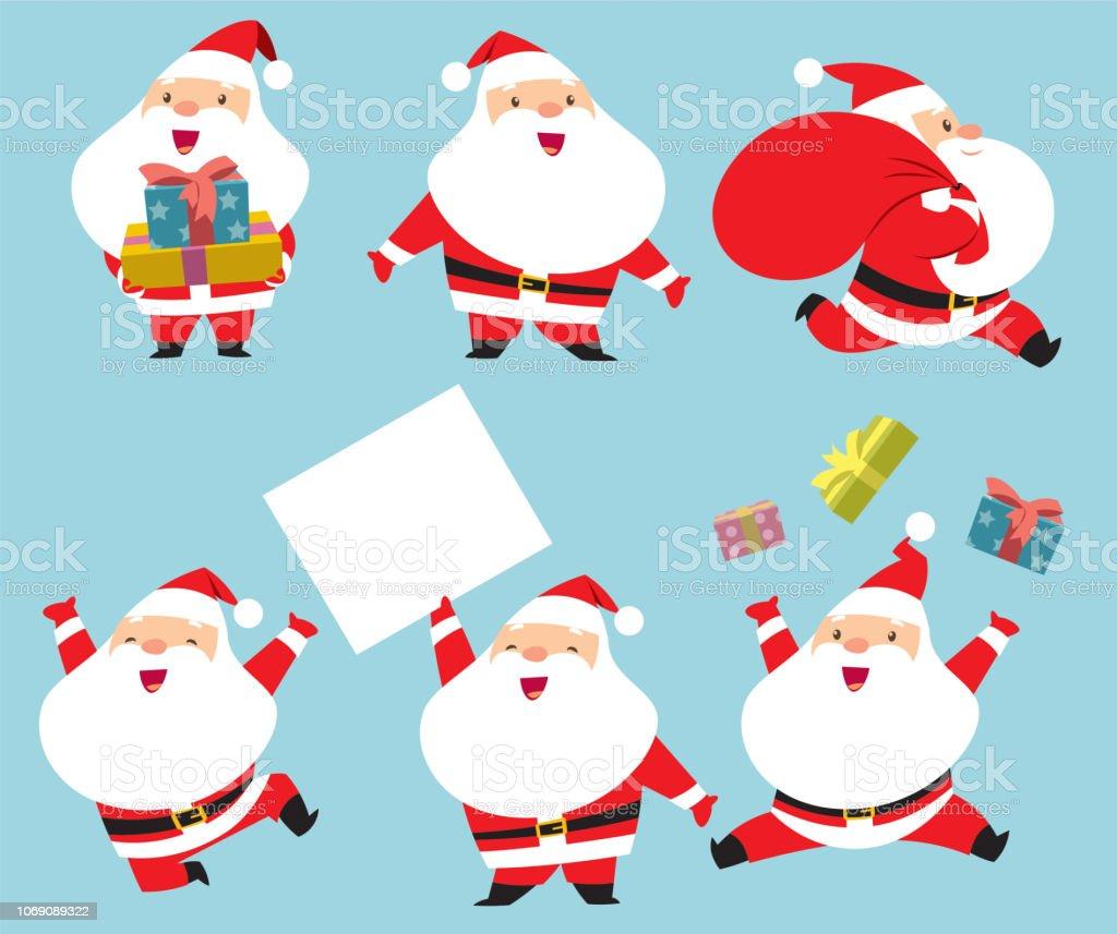 Collection of Santa Claus - arte vettoriale royalty-free di Allegro
