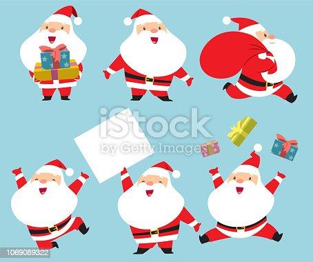 Vector Collection of Santa Claus