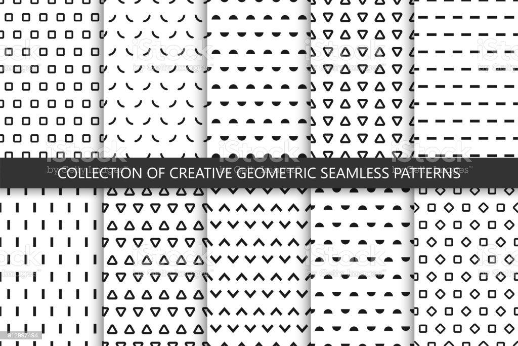 Ilustración de Colección De Patrones Geométricos Transparentes ...