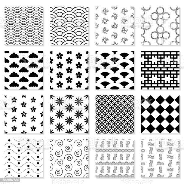 Collection of seamless japanese patterns vector id858557830?b=1&k=6&m=858557830&s=612x612&h=pwi6bgzfvjedo557fjk8xzitgv32pnjz2ahhc wmnjy=