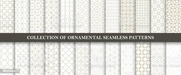 Collection of seamless ornamental vector patterns grid geometric vector id969506472?b=1&k=6&m=969506472&s=612x612&h=r3qjy7wewkhbvazog5rry0yunhdv6mxeswhlzn7zvui=