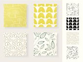 Collection of Seamless Patterns - Applied on Throw Pillows