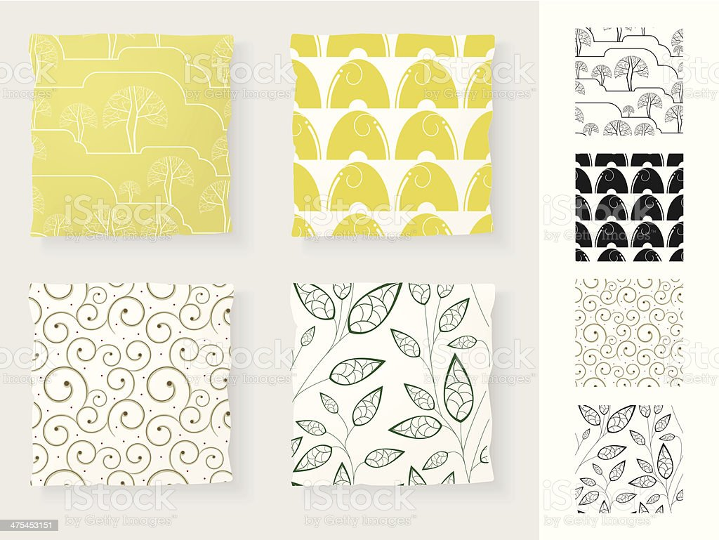 Collection of Seamless Patterns vector art illustration
