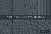 Collection of seamless striped dark gray textures - classic elegant design. Linear geometric endless patterns. You can find repeatable bakgrounds in swatches panel.